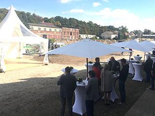 Zelte und Catering für Spatenstich