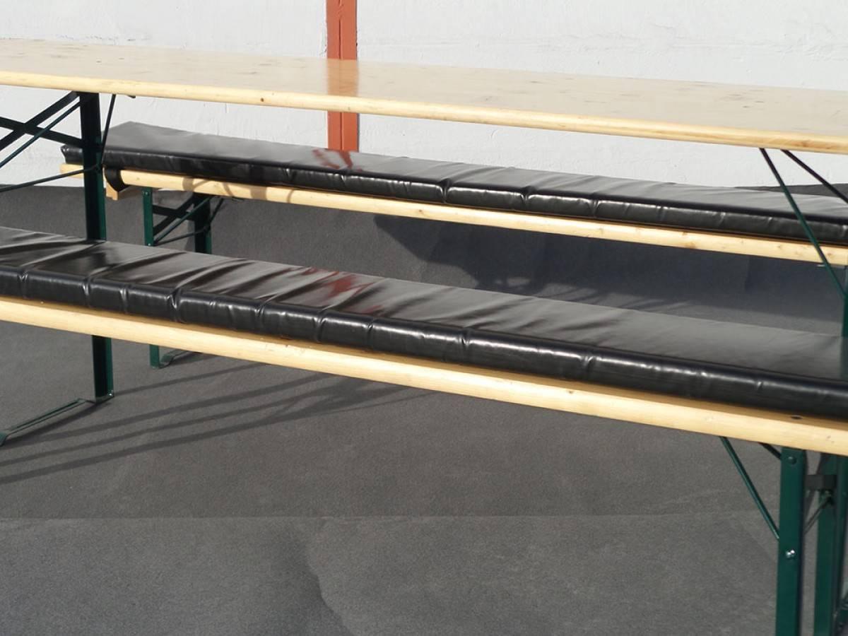 Sitzauflage für Biertischgarnitur mieten | 5 cm dick | günstiger Verleih