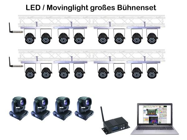 Bühnen Lichtanlage inkl. Movinglights mieten