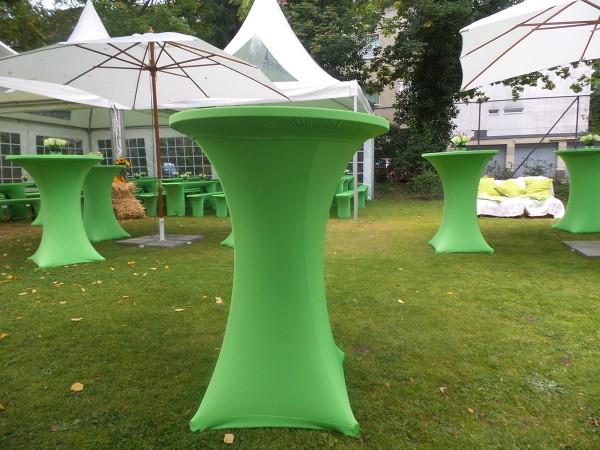Stehtisch Stretchhusse in grün Berlin