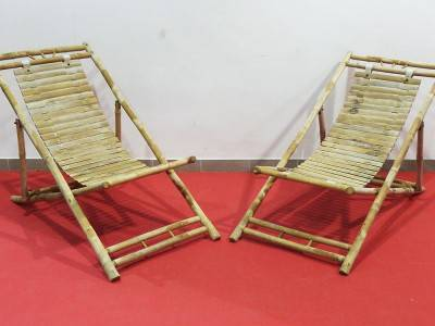 Bambus Liegestuhl