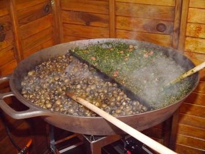 Weihnachtsmarkt Champignonpfanne