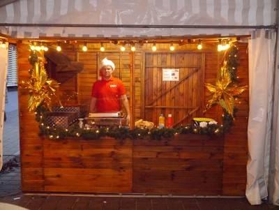 Grillstand für Weihnachtshütte