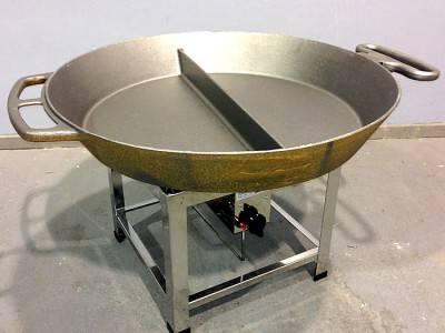 Gas Hockerkocher mit Pfanne