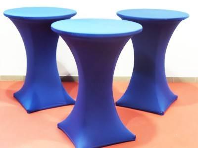 Stehtischhusse blau