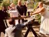 Hochzeit Baumstammsägen