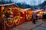 Weihnachtsfeier im Zelt