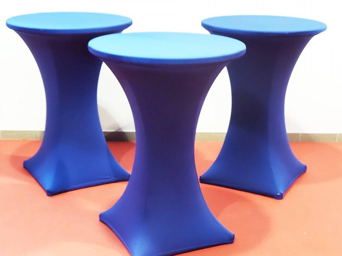 stehtischhusse mieten g nstiger stehtischhussen verleih blau. Black Bedroom Furniture Sets. Home Design Ideas
